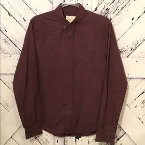 Sovereign Code Burgundy Button Up Shirt GUC